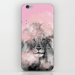 Lion in Pink iPhone Skin