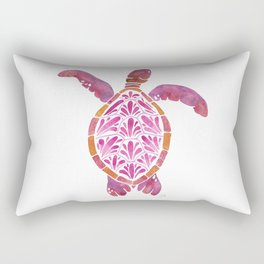 Pink Sea Turtle Rectangular Pillow