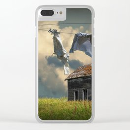 Wash on the Line Clear iPhone Case