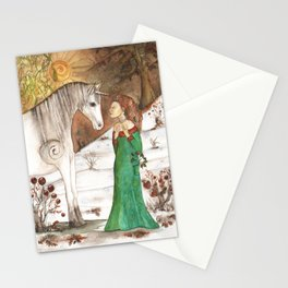 Yule Blessings Stationery Cards