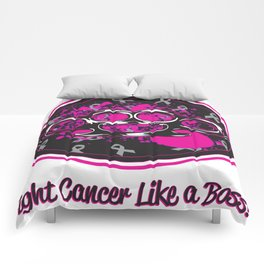 fight cancer like a boss Comforters