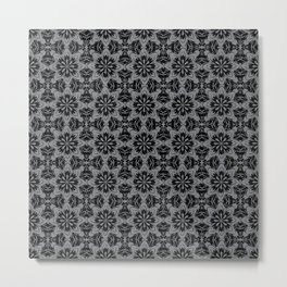 Sharkskin Floral Metal Print