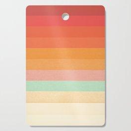 Rainbow Chevrons II Cutting Board