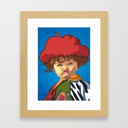 Scrunchy Face Kid Framed Art Print