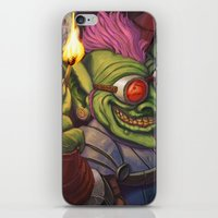 warcraft iPhone & iPod Skins featuring The Firework Maker Goblin by foreest