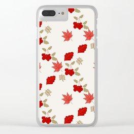 viburnum Clear iPhone Case