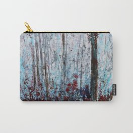 Autumn Smoke - Misty Autumn Forest Scene Carry-All Pouch