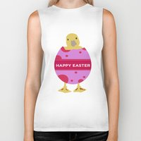 easter Biker Tanks featuring Happy Easter  by Sammycrafts