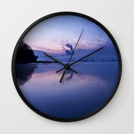 Tranquil blue nature Wall Clock