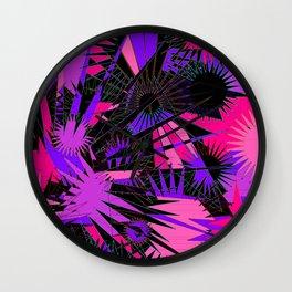 Pink & Purple Supernova Wall Clock