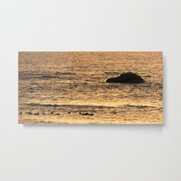 Golden Hour on the Sea Metal Print