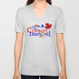 The Crimson Diamond colour logo Unisex V-Neck