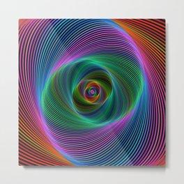 Psychedelic Spiral Stripes Metal Print
