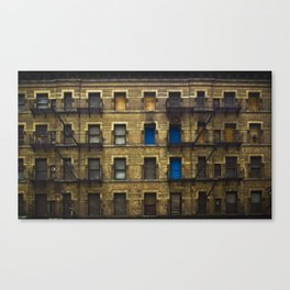 CONDEMNED WITH 3 BLUE DOORS Canvas Print
