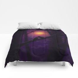 Ravens at Sundown Comforters