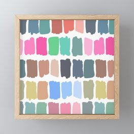 Abstract colorful palette watercolor brushstrokes Framed Mini Art Print