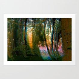 Trippy Trees Art Print