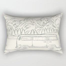 Mountain Road Linescape Rectangular Pillow