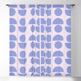 Shapes in Periwinkle Blackout Curtain