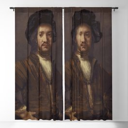 Rembrandt - Portrait of a foreign admiral Blackout Curtain