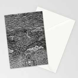 Flying Crane Stationery Cards