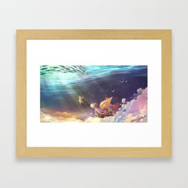 Ship of Pirates Framed Art Print