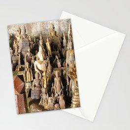 Buddha statues, Pak Ou Caves, Laos Stationery Cards