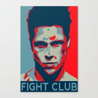 tyler durden Canvas Prints featuring Tyler Durden by Jason Vaughan
