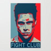 tyler durden Canvas Prints featuring Tyler Durden by Jason Vaughan