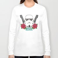 stormtrooper Long Sleeve T-shirts featuring Stormtrooper by Larissa