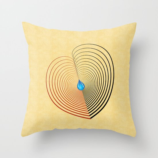 Out of the Blue -- an unbalanced heart Throw Pillow