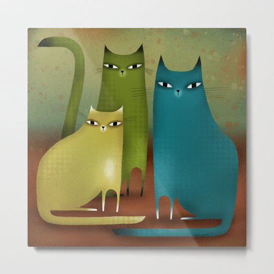 CAT STILL LIFE Metal Print