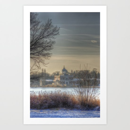 Winter palace Potsdam Art Print