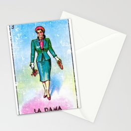 La Dama Mexican Loteria Bingo Card Stationery Cards
