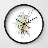 narnia Wall Clocks featuring See you in Narnia by Sybille Sterk