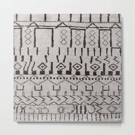N7 | Original Moroccan Brown Artwork Metal Print