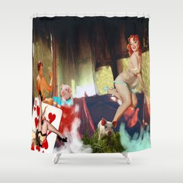 Mar de escotes Shower Curtain