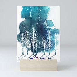 Winter Night 2 Mini Art Print