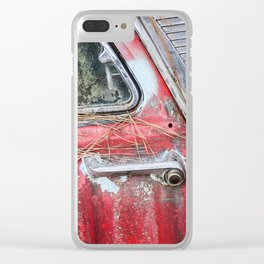 American Classic Car Doorhandle Clear iPhone Case