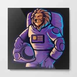 Astronaut grabbing moon awesome cosmonaut gifts Metal Print