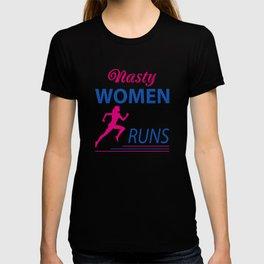 Nasty women runs T-shirt
