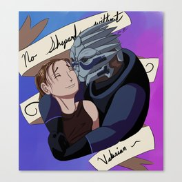 No Shepard without Vakarian Canvas Print