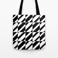 grid Tote Bags featuring Grid by Laura Maria Designs