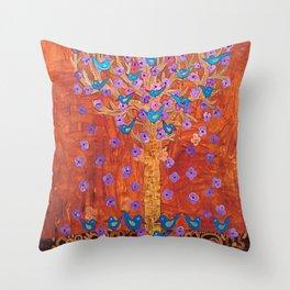 Rust Tree of Life by Gert Mathiesen Throw Pillow