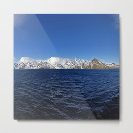 Antarctic Mountain Range Metal Print