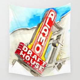 Alamo Drafthouse watercolor Wall Tapestry