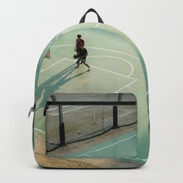 field and basketball players Backpack