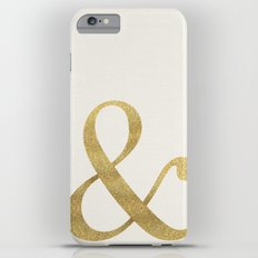Gold Glitter Ampersand iPhone 6 Plus Slim Case