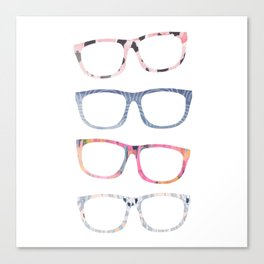 Bespectacled // Watercolor Glasses Print Canvas Print