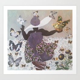 The Butterfly Witch Art Print